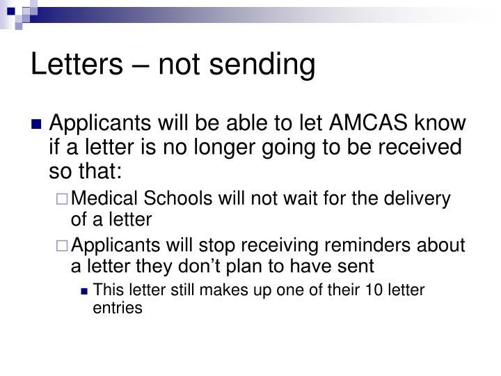 Letters – not sending