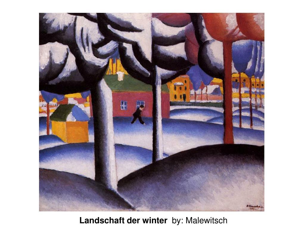 Landschaft der winter