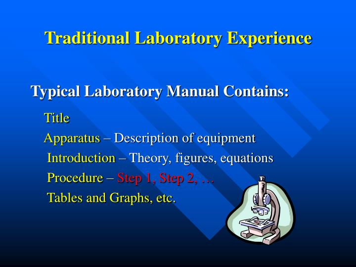 Traditional Laboratory Experience