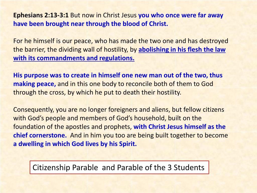 Ephesians 2:13-3:1