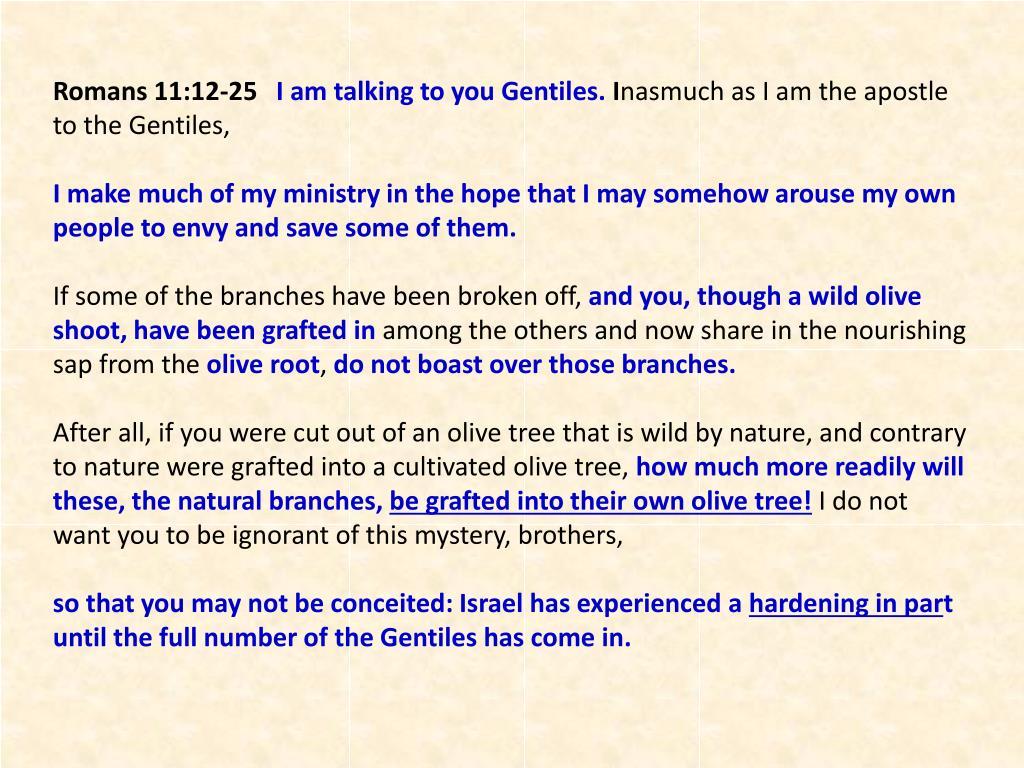 Romans 11:12-25