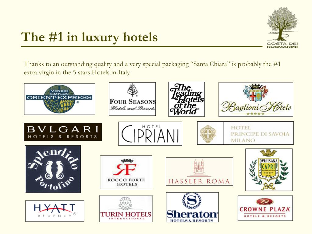 The #1 in luxury hotels