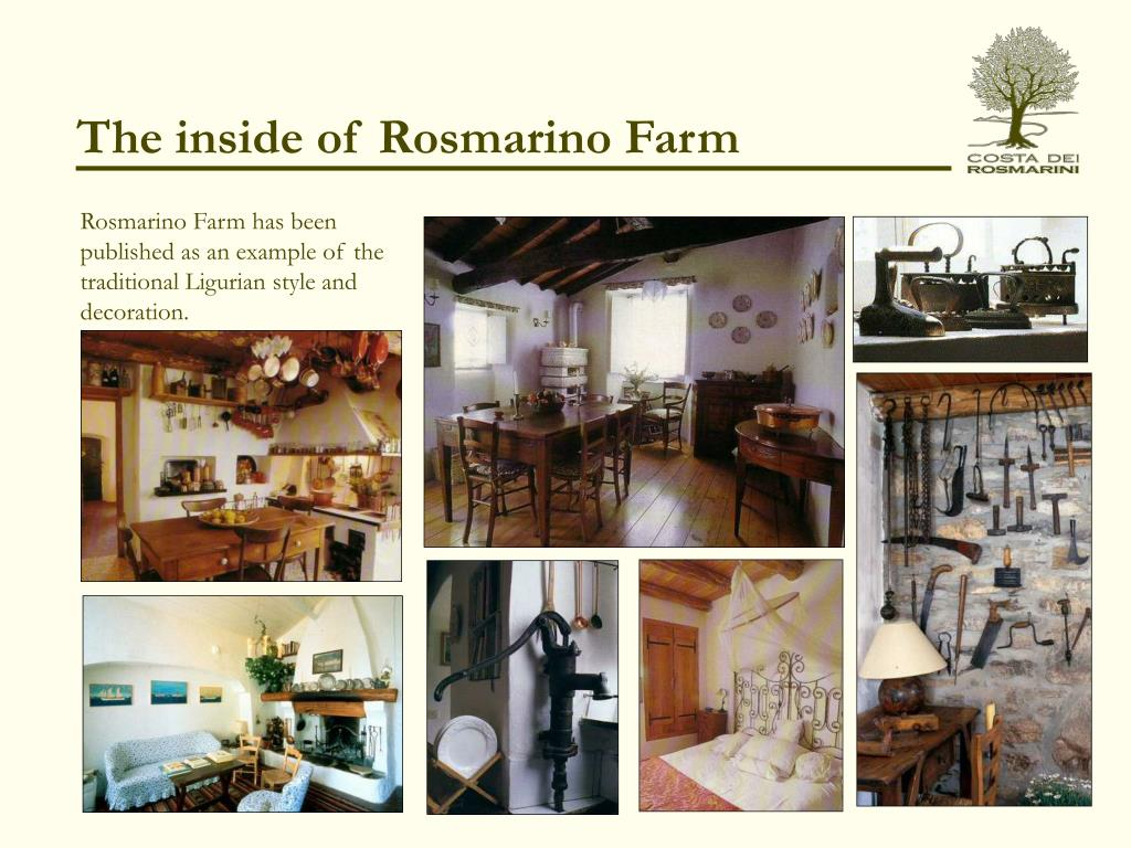 The inside of Rosmarino Farm