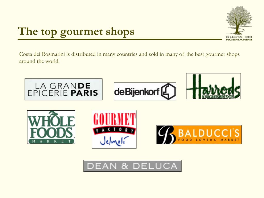 The top gourmet shops