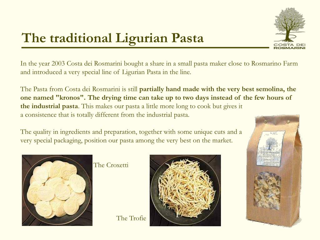 The traditional Ligurian Pasta