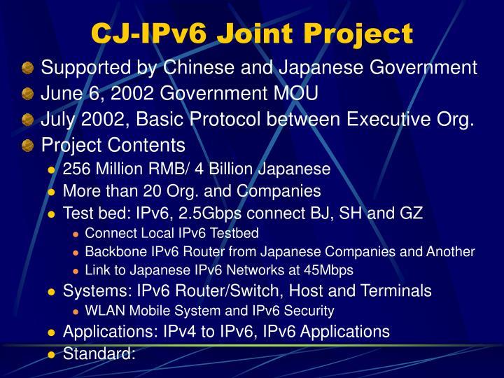 CJ-IPv6 Joint Project