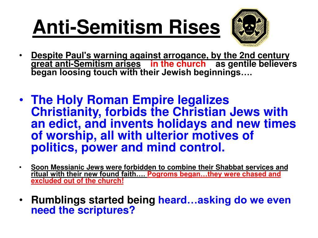 Anti-Semitism Rises