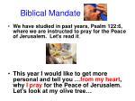 biblical mandate