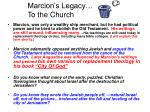 marcion s legacy to the church