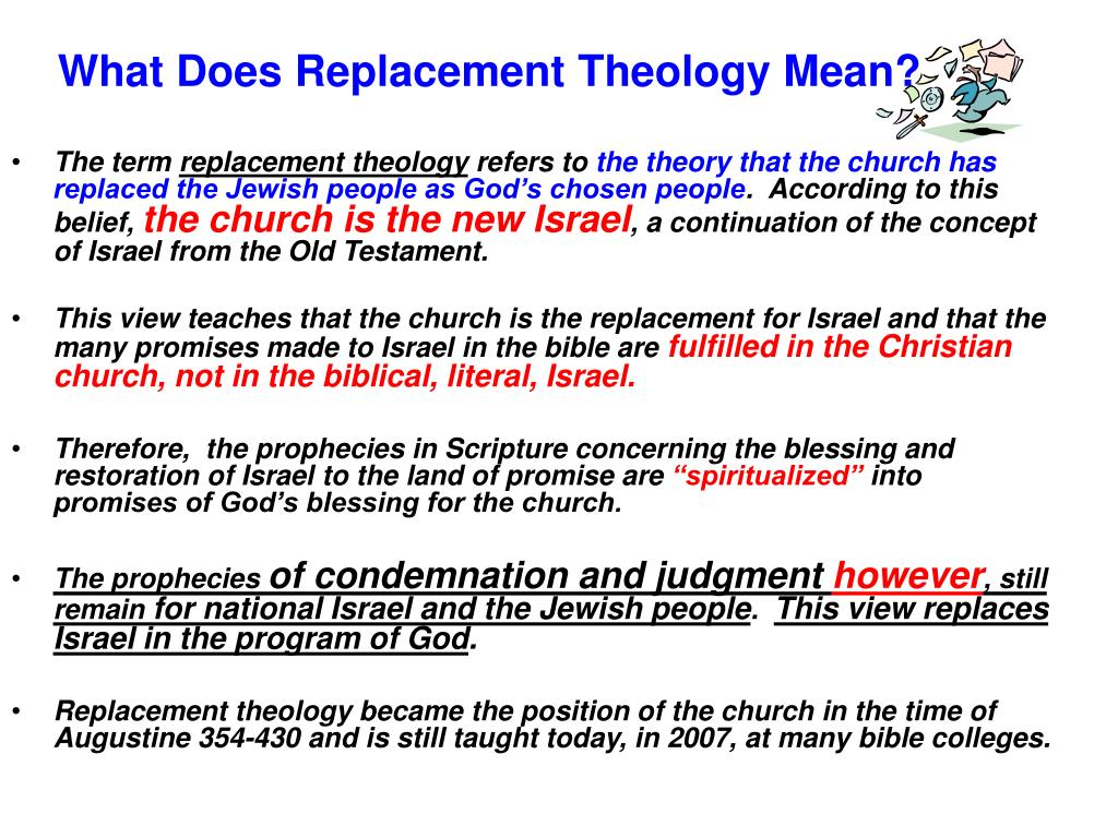 What Does Replacement Theology Mean?