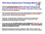 what does replacement theology mean