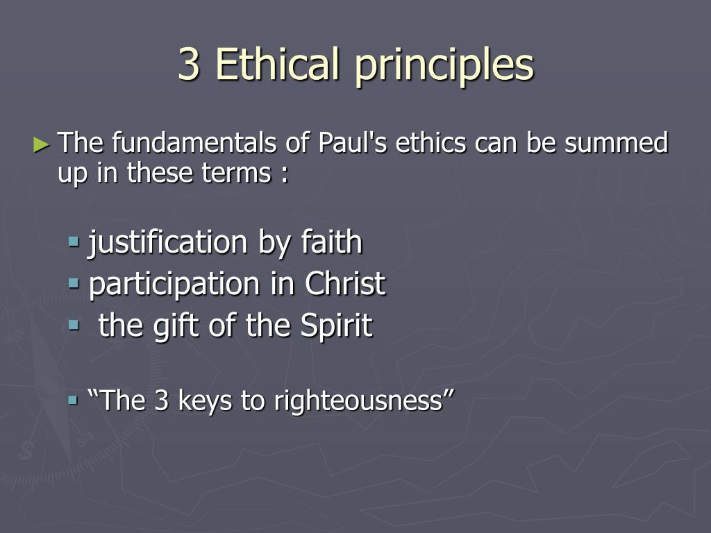 3 Ethical