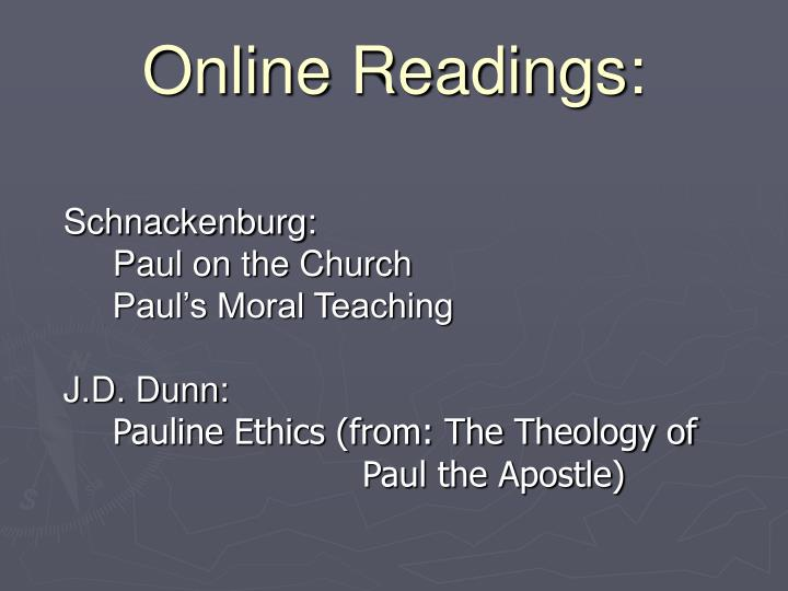 Online readings