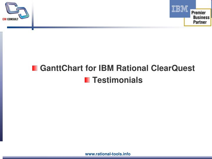 GanttChart for IBM Rational ClearQuest