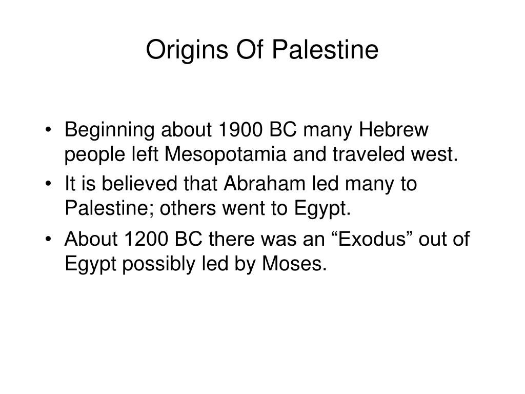 Beginning about 1900 BC many Hebrew people left Mesopotamia and traveled west.