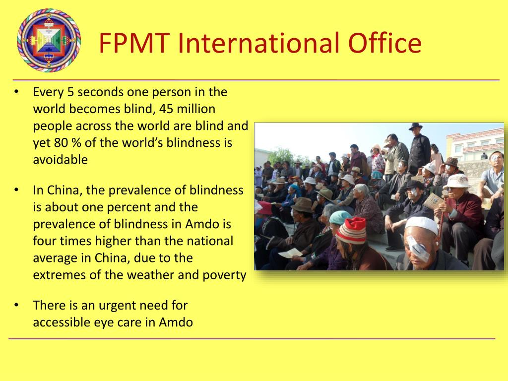 Every 5 seconds one person in the world becomes blind, 45 million people across the world are blind and yet 80 % of the world's blindness is avoidable