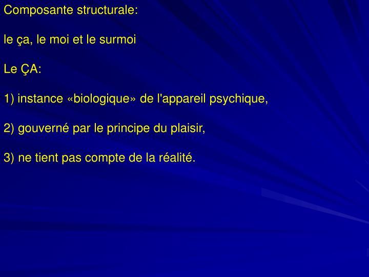 Composante structurale: