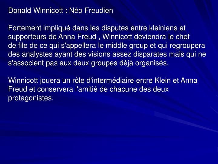 Donald Winnicott : Néo Freudien
