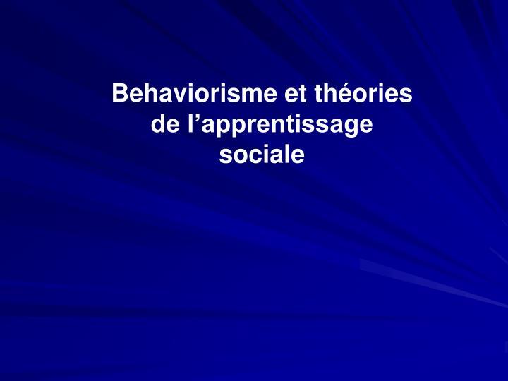 Behaviorisme et théories