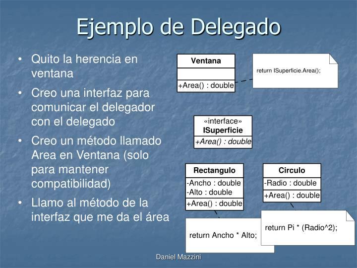 Ejemplo de Delegado