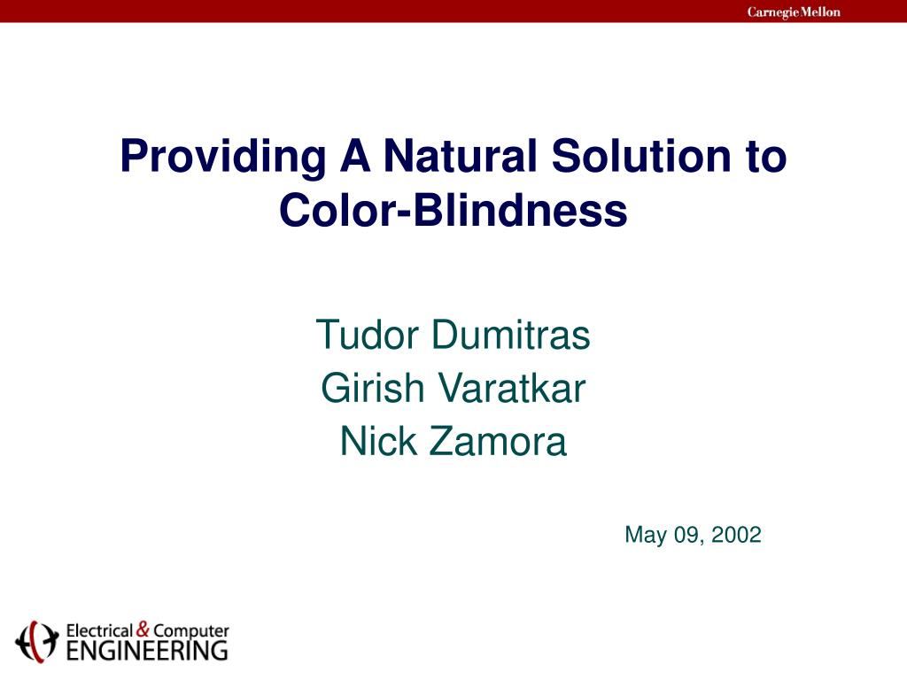 Providing A Natural Solution to Color-Blindness