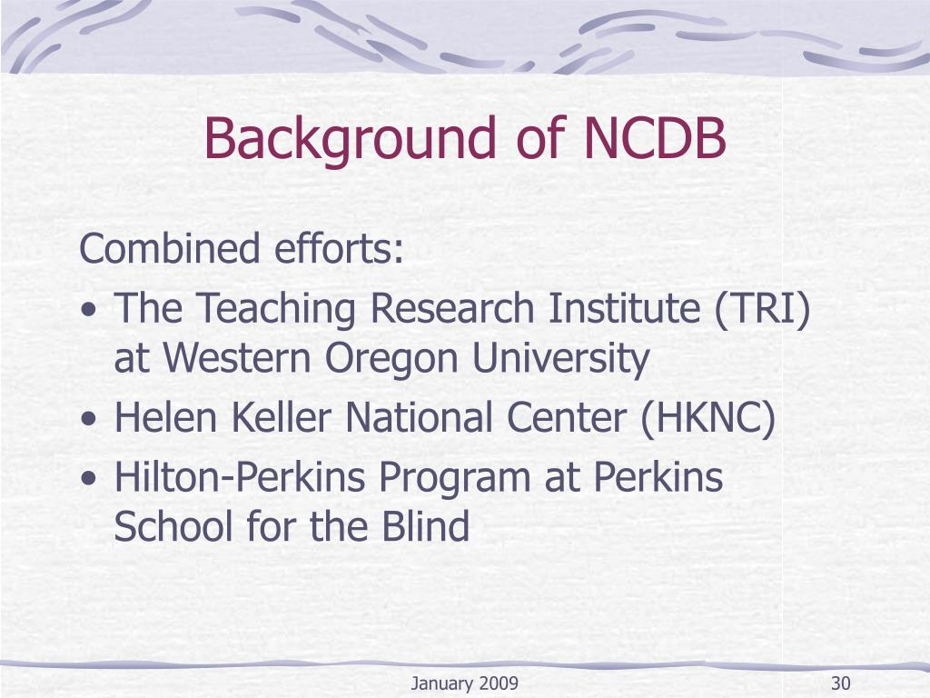 Background of NCDB