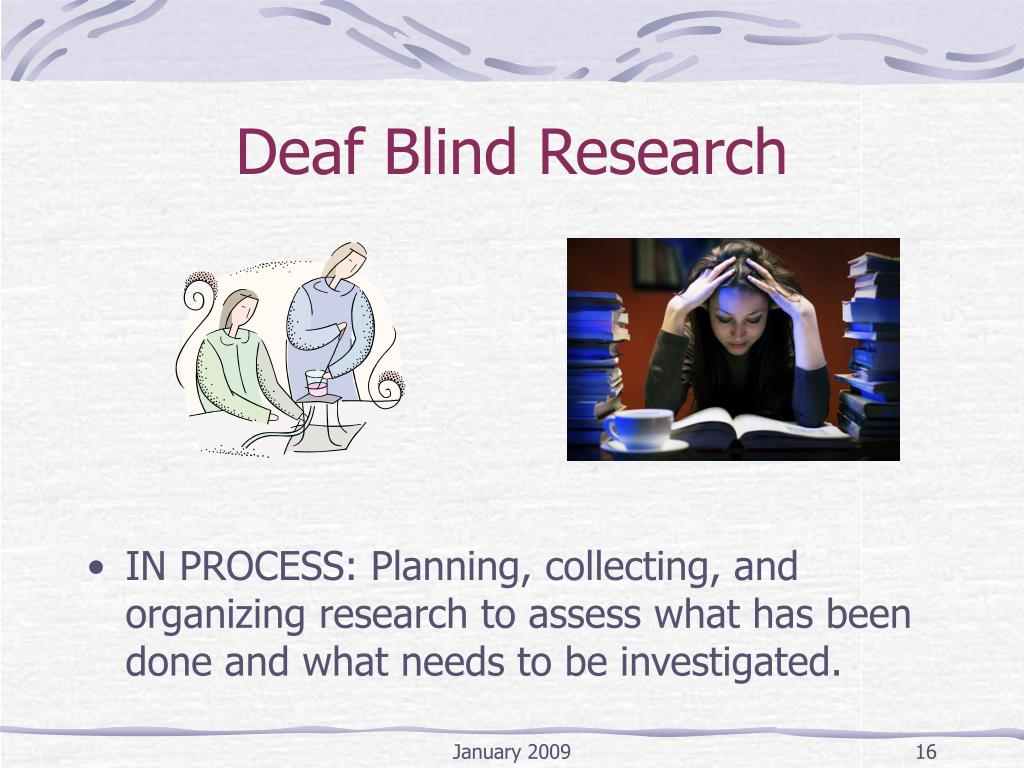 Deaf Blind Research