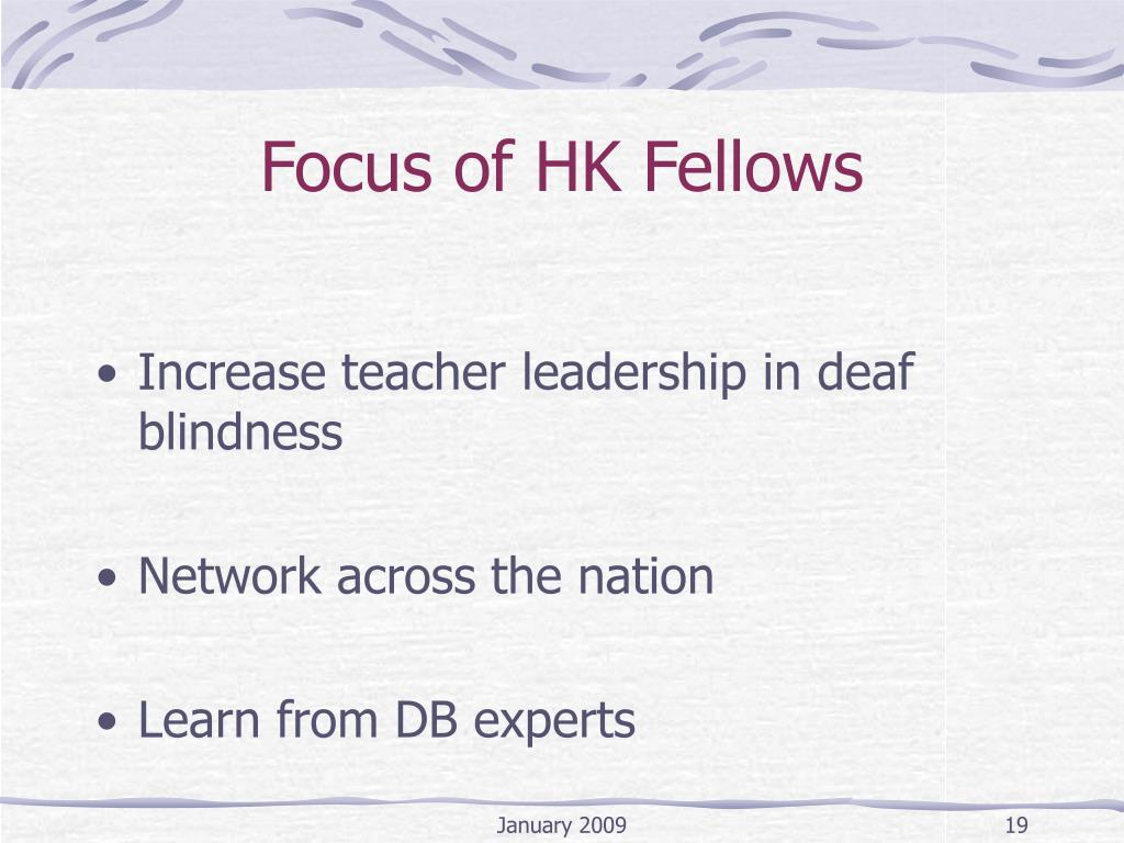 Focus of HK Fellows