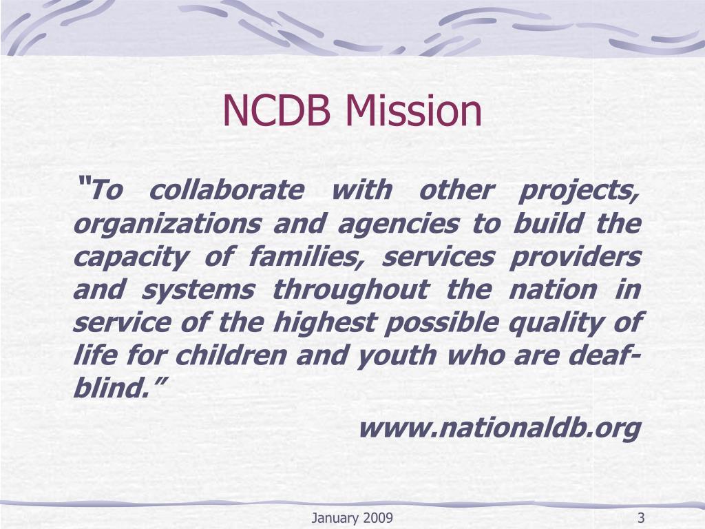 NCDB Mission