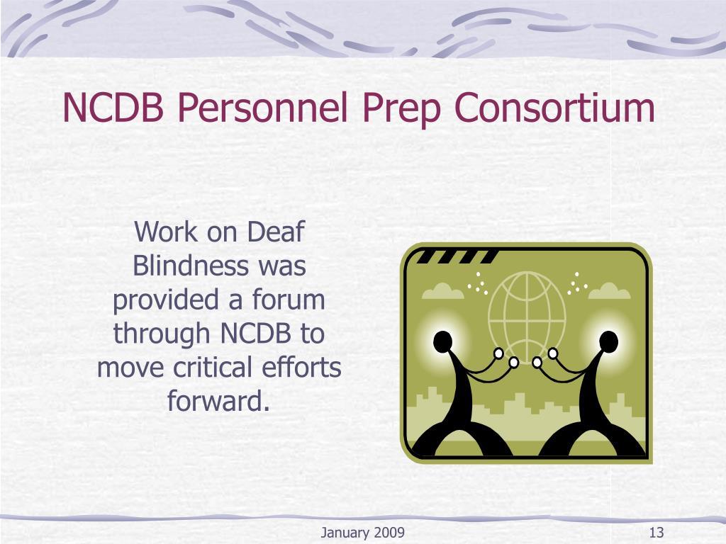 NCDB Personnel Prep Consortium