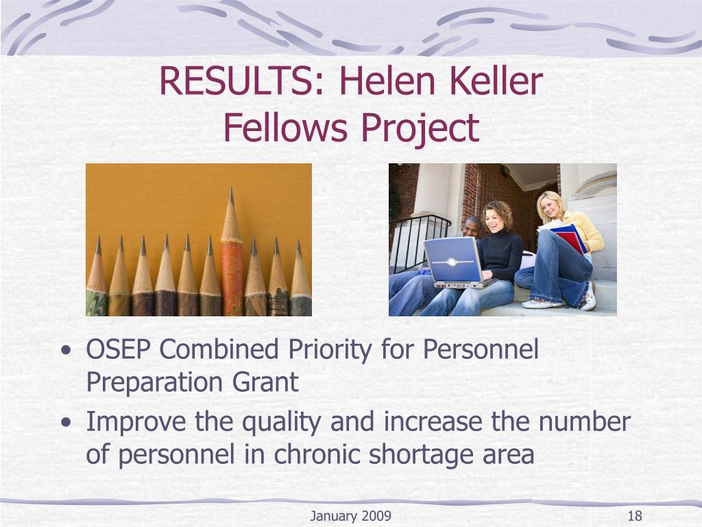 RESULTS: Helen Keller