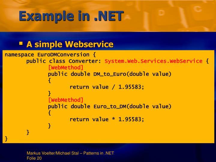 Example in .NET