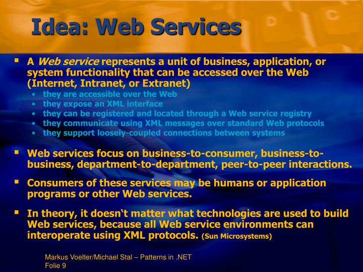 Idea: Web Services