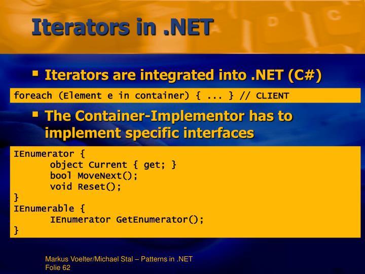 Iterators in .NET