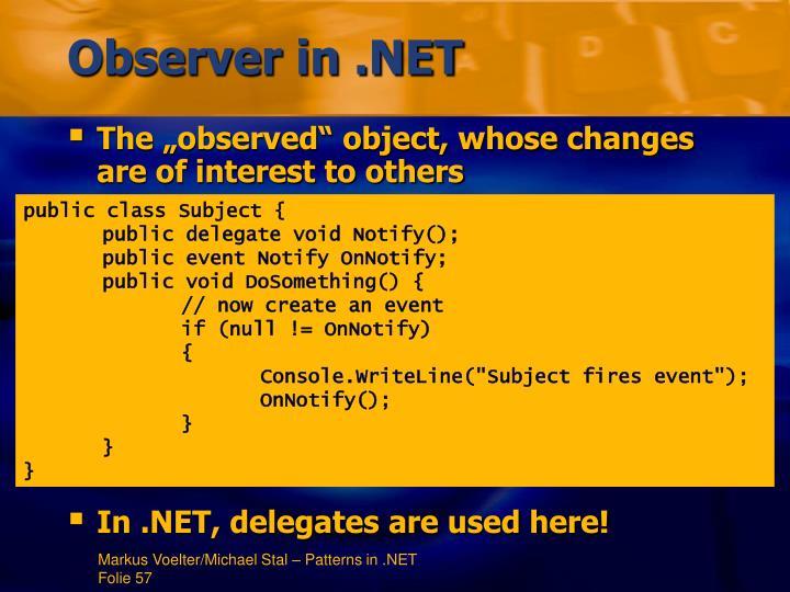 Observer in .NET