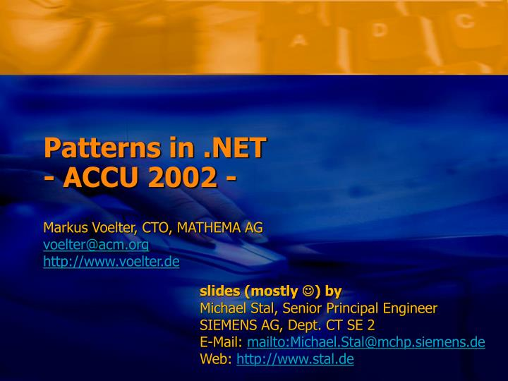 Patterns in net accu 2002