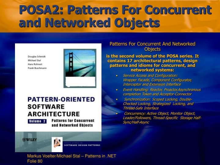 Patterns For Concurrent And Networked Objects