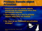 problem remote object activation