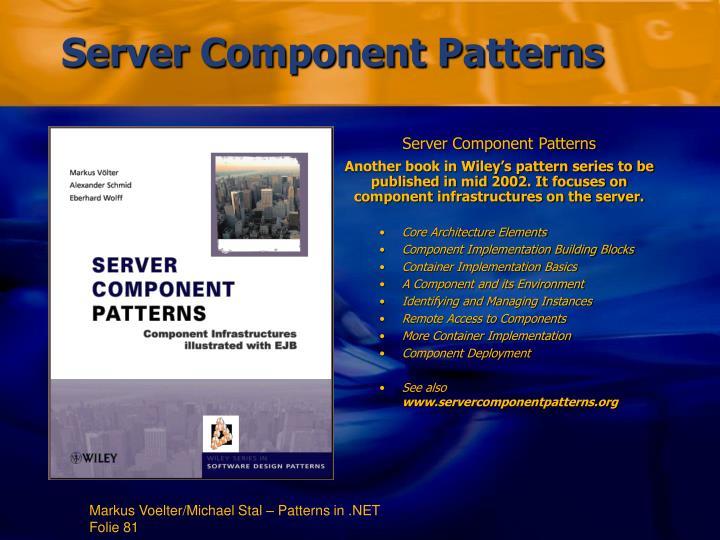 Server Component Patterns