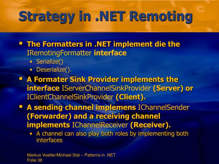 Strategy in .NET Remoting