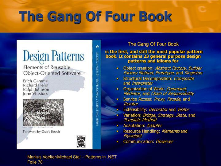 The Gang Of Four Book