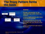the proxy pattern forms the basis