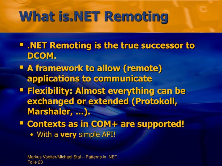 What is.NET Remoting