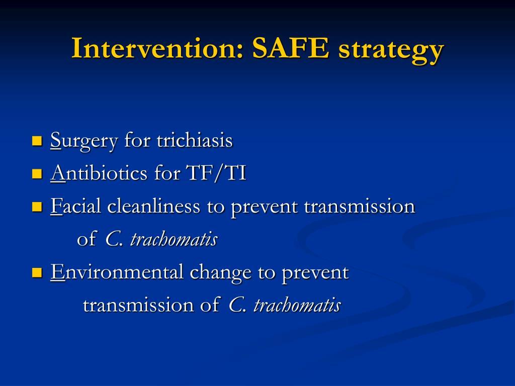 Intervention: SAFE strategy