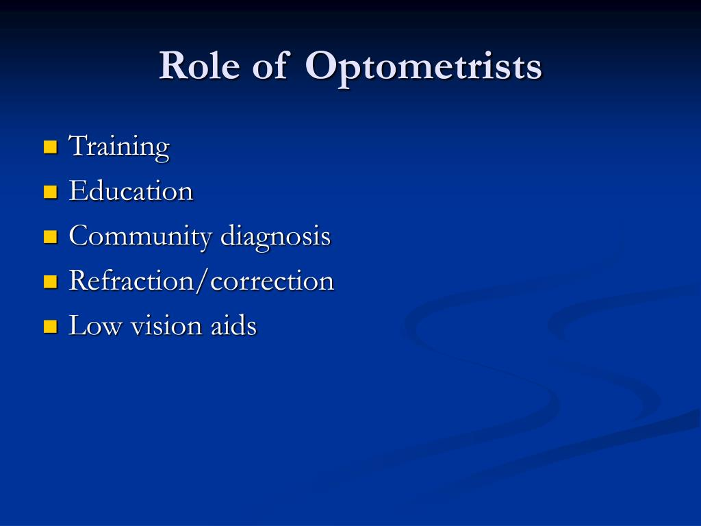 Role of Optometrists