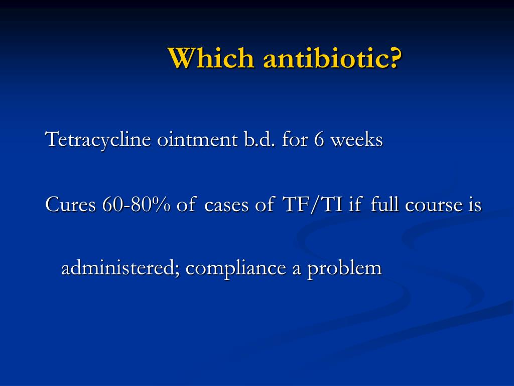Which antibiotic?