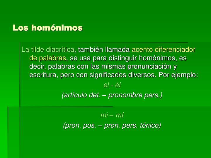 Los homónimos