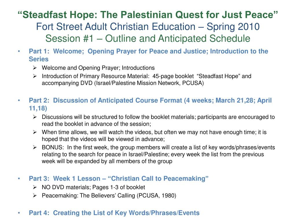 """""""Steadfast Hope: The Palestinian Quest for Just Peace"""""""