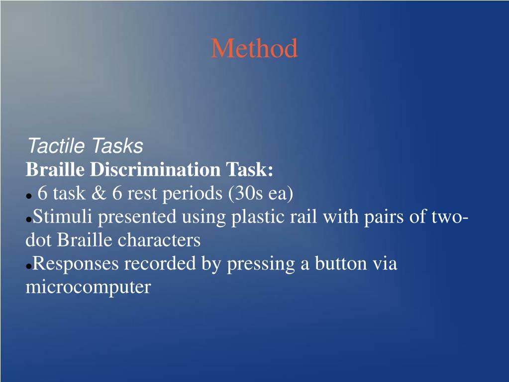 Tactile Tasks