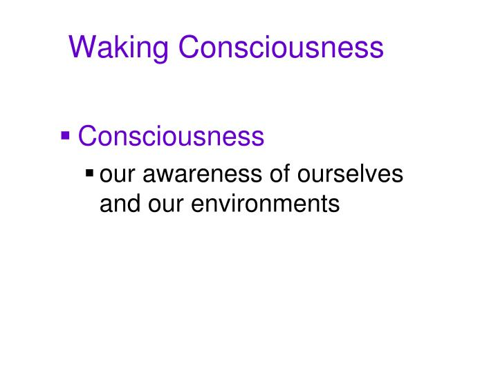 Waking consciousness